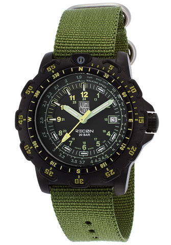 Luminox 8826-MI Men's Recon Point Man Black Dial Green Nylon Strap