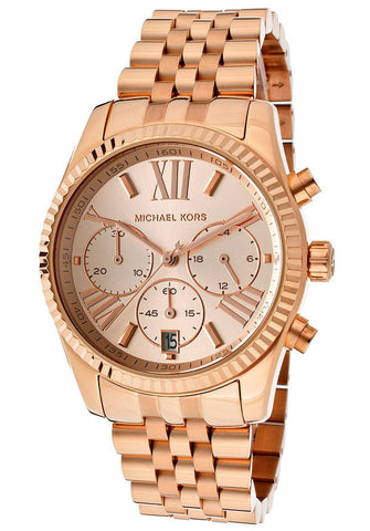 M.KORS-MK5569 Women's Chronograph Rose Gold Tone Dial Rose Gold Tone IP SS