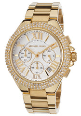 Michael Kors MK5756 Women's Bradshaw Crystal Chrono Gold-Tone Stainless Steel Silver-Tone Dial