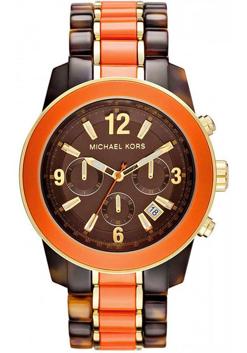 M.KORS-MK5765 Women's Brown Dial Two Tone Stainless Steel