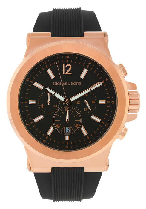 Michael Kors MK8184 Men's Black Dial Black Rubber
