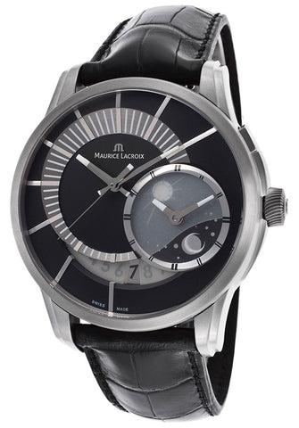 Maurice Lacroix PT6108-TT031-391 Men's Automatic Moonphase Genuine Alligator