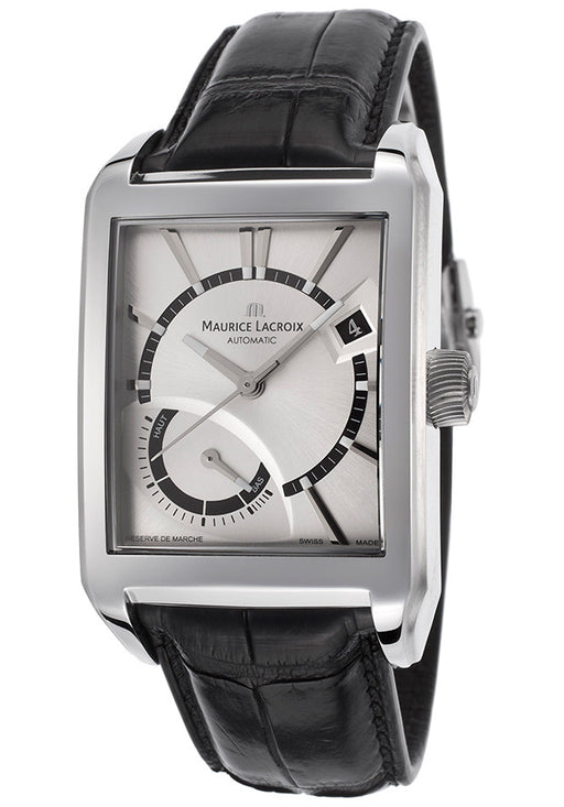 Maurice Lacroix Men's Pontos Automatic Silver-Tone Dial Power Reserve Display