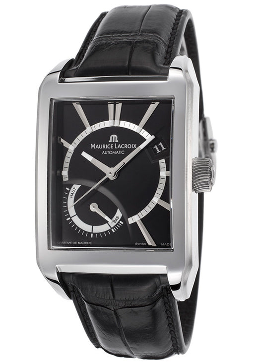Maurice Lacroix Men's Pontos Automatic Black Power Reserve Display