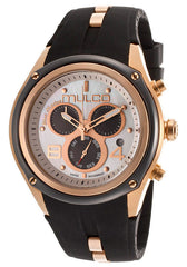 Mulco MW129902021 Women's Blue Marine Chronograph White Mother Of Pearl Dial Black Rubber