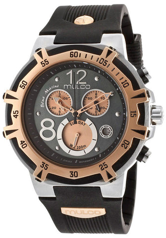Mulco MW1-29903-022 Women's Blue Marine Chronograph Grey Dial Black Rubber