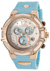 Mulco MW129903043 Women's Blue Marine Chronograph White Mother Of Pearl Dial Blue Rubber