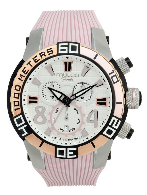 MULCO Unisex MW1-74197-813 Analog Display Swiss Quartz Pink Watch