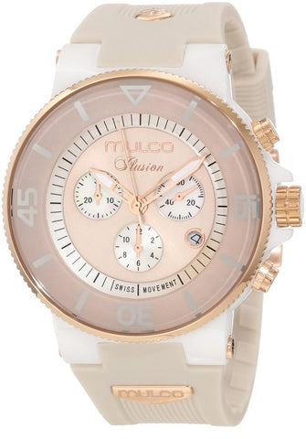 Mulco Unisex MW3-11009-093 Ilusion Ceramic Chronograph Swiss Movement Watch