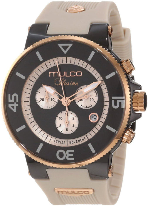 Mulco Unisex MW3-11009-095 Ilusion Ceramic Chronograph Swiss Movement Watch