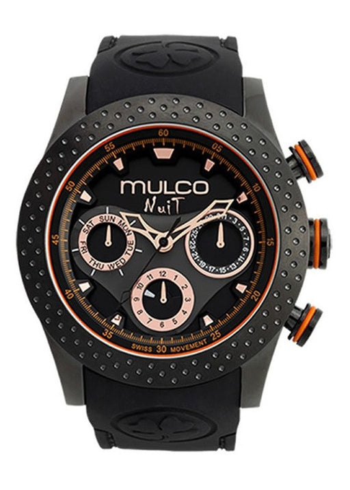 Mulco MW5-1962-260 Nuit Mia Black Strap & Dial Men's Watch