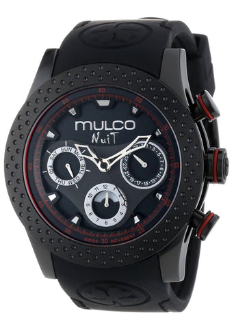 MULCO Unisex MW5-1962-261 Analog Chronograph Swiss Watch