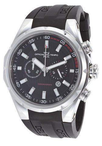 OFFICINA DEL TEMPO MEN'S WATCH CHRONO S/S RUBBER SPORTS ITALY OT1029-111N