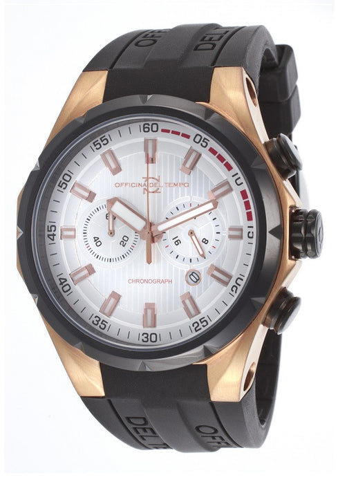 Officina Del Tempo Quartz Stainless Steel Watch #OT1029-161AGN (Men Watch)