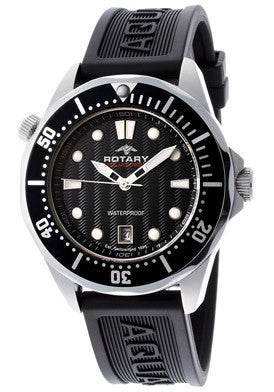 Rotary AGS00068-W-04 Men's Aqua Speed Black Textured Dial