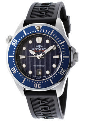 Rotary AGS00068-W-05 Men's Aqua Speed Blue Dial Black