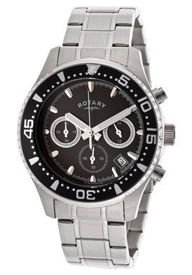 Rotary GB00014-04 Men's Chronograph Black Dial stainless