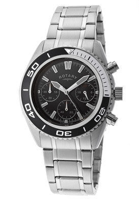 Rotary GB00108-04 Men's Chronograph Black Dial Stainless