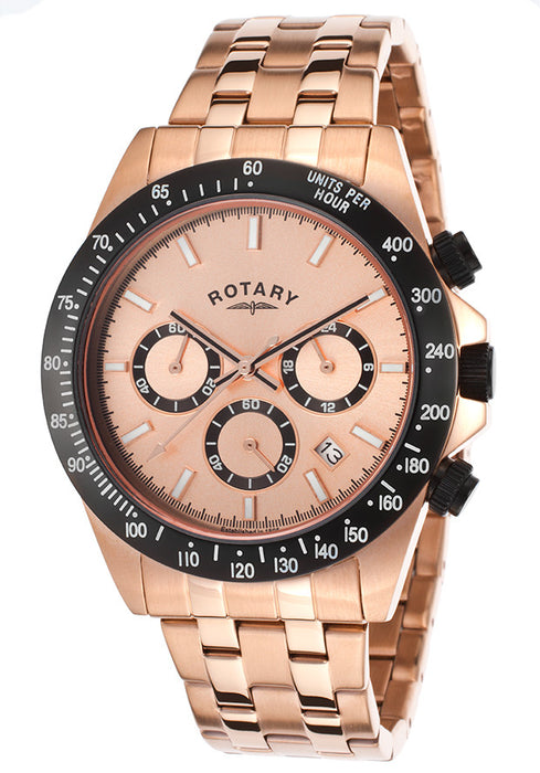 Rotary GB00172-25 42mm Gold Steel Bracelet & Case Mineral Men's Watch