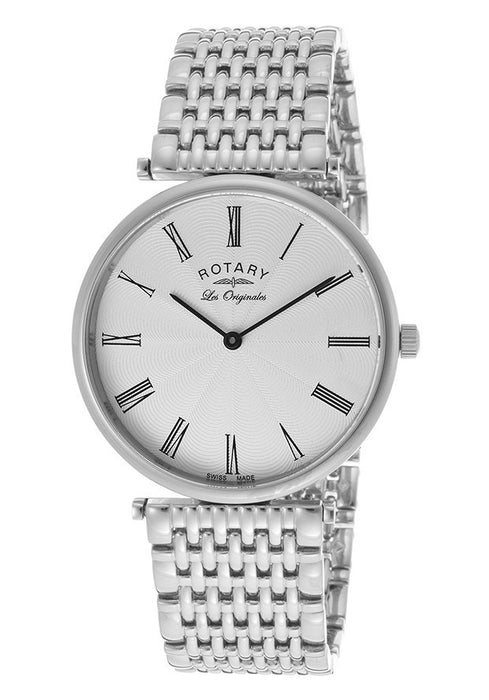 Rotary GB90000-21 Men's Los Originales Silver Dial Stainless Steel