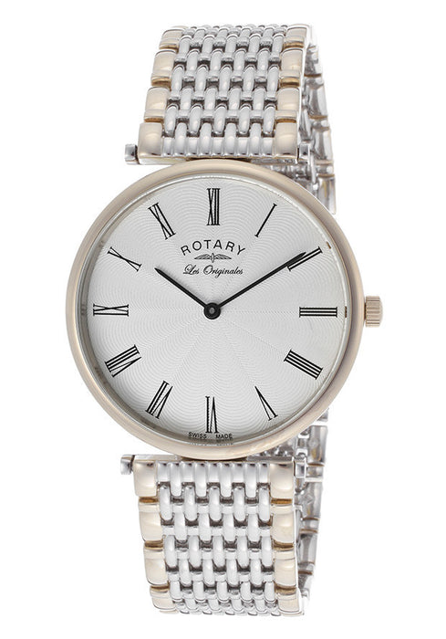 Rotary GB90001-01DB Women's Silver Textured Dial Two Tone