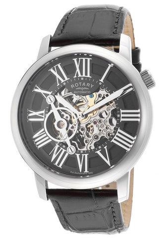 Rotary GLE000015-10 Men's Automatic Stainless Steel Skeleton  300pcs Limited