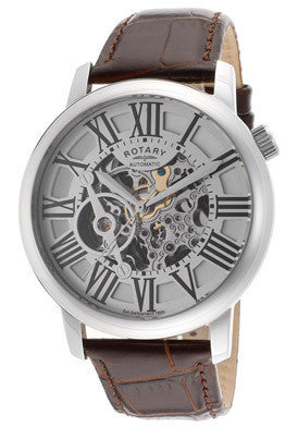 Rotary GLE000015-21 Men's Automatic Silver Skeletonize Dial