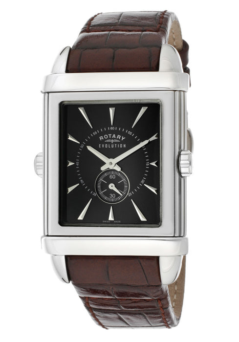 Rotary GS90023-18-04 Gents Originales Black Dial And Leather Strap Watch
