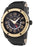 Swiss Legend Men's 10005G-BB-01-GB Traveler GMT Collection Black Dial Black Leather Watch