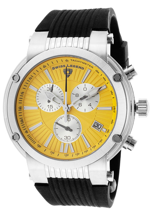 Swiss Legend Men's 10006-07Y-SB Legato Cirque Collection Chronograph Rubber Watch
