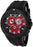 Swiss Legend Evolution Chronograph Black Silicone and Dial Red Accents