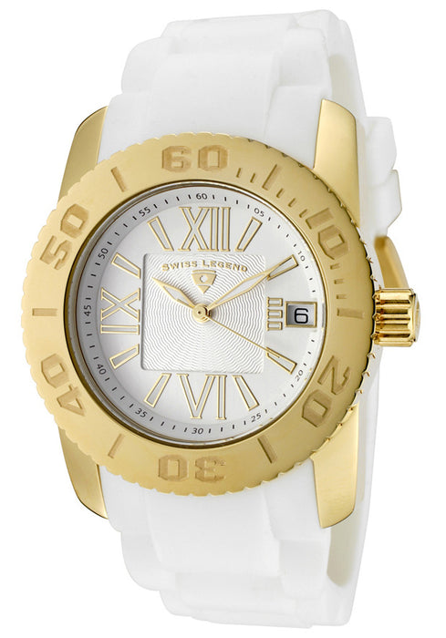 Swiss Legend Women's 10114-YG-02 Commander White/Yellow Gold-Tone Watch