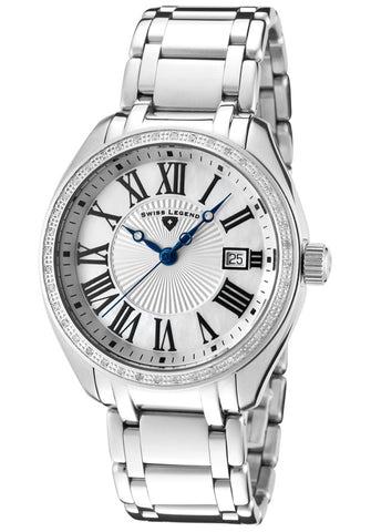 Swiss Legend Men's 10278-02 The Estate White Textured and Mother-Of-Pearl Dial Watch