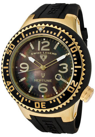 Swiss Legend Men's 21818P-YG-01-MOP Neptune Black Mother-Of-Pearl Dial Watch