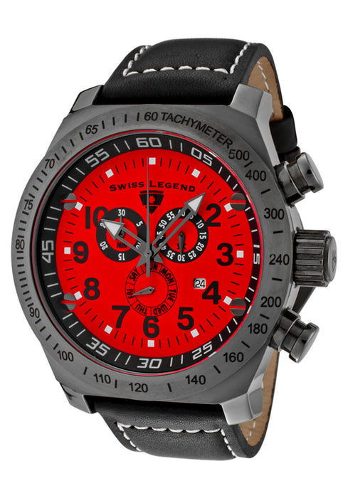 Swiss Legend Men's 22828-GM-05 SL Pilot Chronograph Red Dial Watch