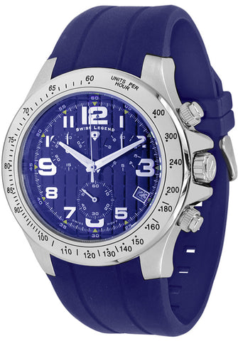 Swiss Legend 50041-03-BLU Watches,Eograph Chronograph Blue Silicone and Dial Silver-Tone Case