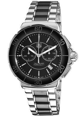 Tag Heuer CAH1210.BA0862 Men's Formula 1 Chronograph Black Dial Stainless Steel & Black Ceramic