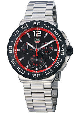Tag Heuer TAG-CAU1116.BA0858 Men's Formula 1 Chronograph Black Dial Stainless Steel