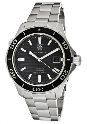 TAG-WAK2110.BA0830 Men's Aquaracer Automatic Black Dial Stainless Steel