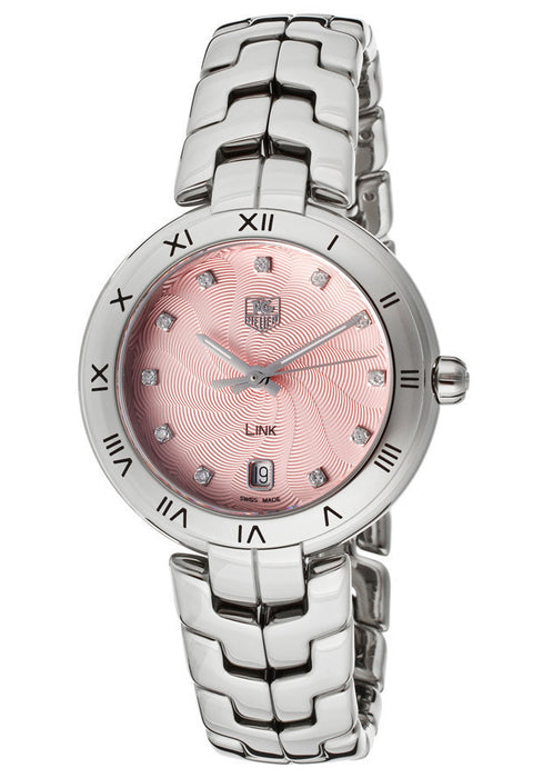 Women's Diamond Pink Textured Dial Stainless Steel TAG-WAT1313.BA0956