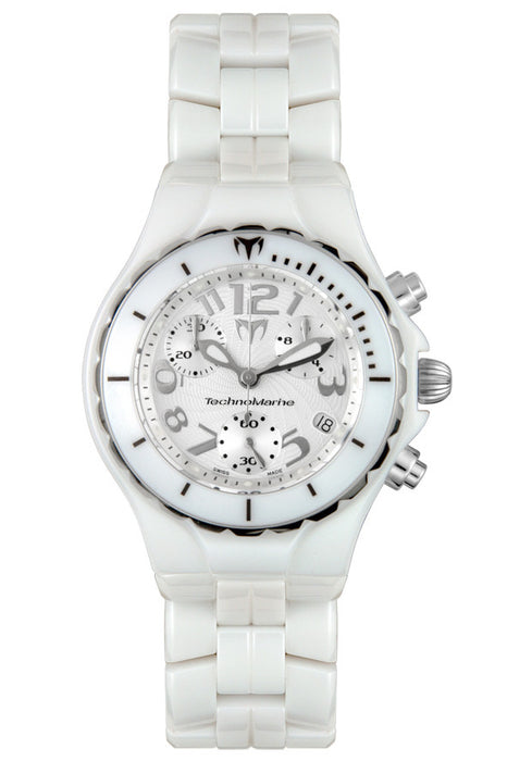 Technomarine TC05C Women's Techno Chrono Ceramique White Ceramic Chronograph