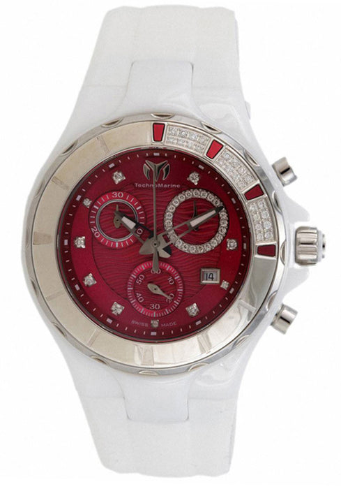 Technomarine 110078 Cruise Sport Red Dial White Silicon