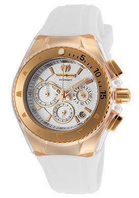 Technomarine 111005 Women's Cruise Chronograph Rose-Tone Case Silver-Tone Dial