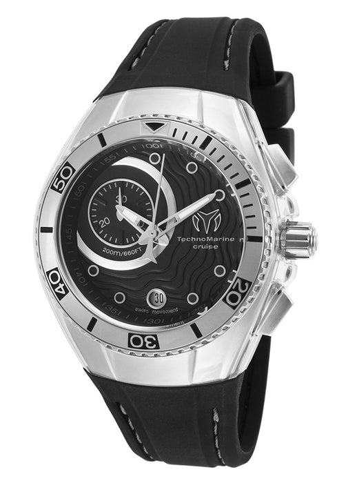 TechnoMarine Unisex 114029 Cruise One Analog Display Swiss Quartz Black Watch