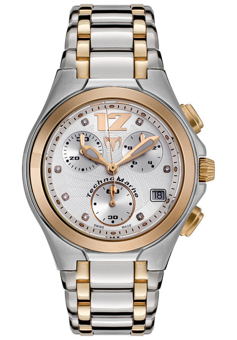 TechnoMarine Unisex TMNCGW05M NeoClassic Chrono Pink Gold-tone Stainless Steel Watch