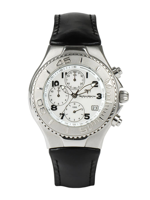Technomarine TMCX02 Women's Chronograph White Mother Of Pearl Dial Black Leather