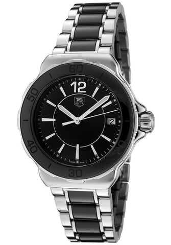 Women's Formula 1 Black Dial Stainless Steel and Black Ceramic TAG-WAH1210.BA0859