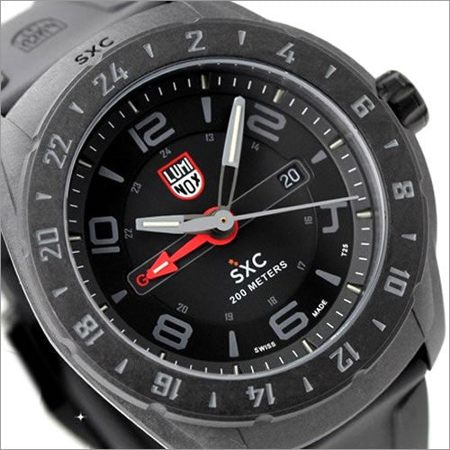 Luminox Men's 5021.GN SXC PC Carbon GMT Analog Display Analog Quartz Black Watch