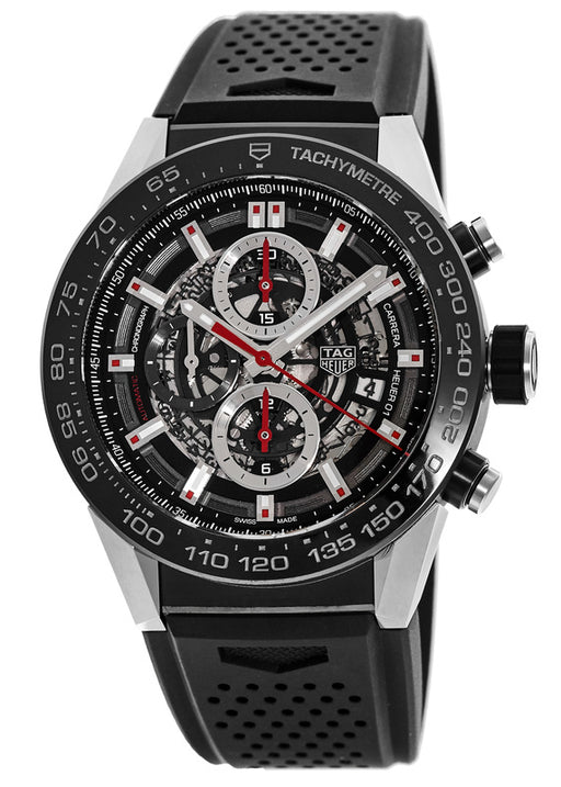 Tag Heuer Carrera Calibre Heuer 01 Automatic Skeleton Dial Mens Watch CAR2A1Z.FT6044