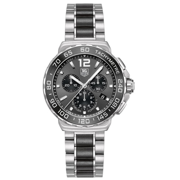 Tag Heuer CAU1115.BA0869 Men's Formula 1 Chronograph Anthracite Sunray Dial Stainless Steel & Black Ceramic